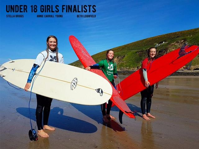 Under 18 Girls Finalists